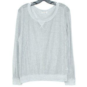Michael Stars Womens Top Shirt Long Sleeve Gray BV